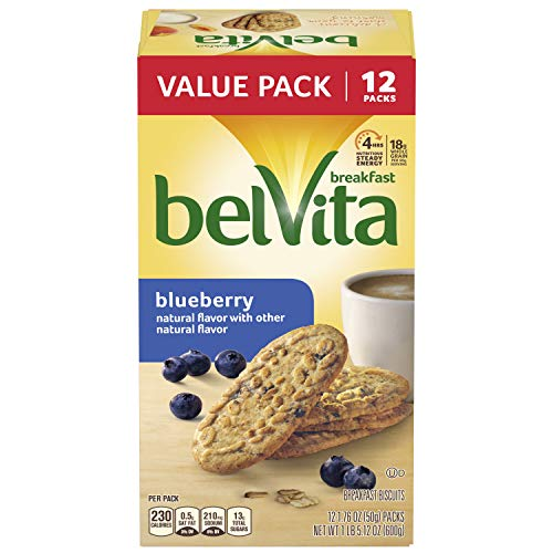 belVita Blueberry Breakfast Biscuits, 12 Count Box, 21.12 - Biscuits Breakfast