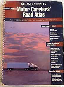 motor carriers 39 road atlas 1995 united states canada