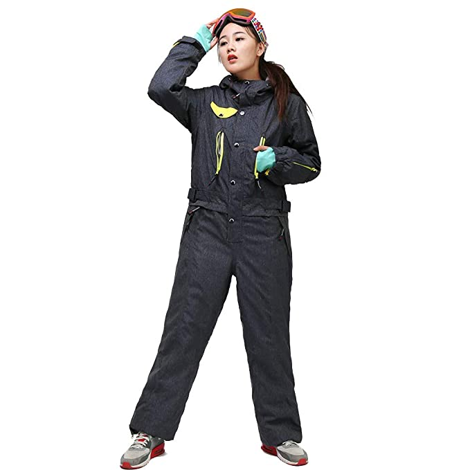 Womens Snow Suit One Piece >> Saenshing Women S Winter Waterproof Snow Ski Suits Windproof Warm Coverall One Pieces
