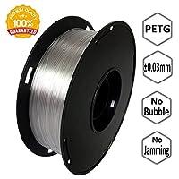 NovaMaker 3D Printer filament - Transparent 1.75mm PETG Filament, PETG 1kg(2.2lbs), Dimensional Accuracy +/- 0.03mm by NovaMaker