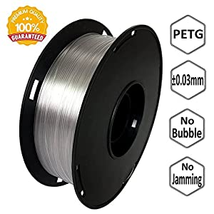 NovaMaker 3D Printer filament - Transparent 1.75mm PETG Filament, PETG 1kg(2.2lbs), Dimensional Accuracy +/- 0.03mm by NovaMaker