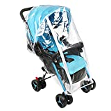 Accmor Universal Baby Stroller Rain Cover, Stroller Weather Shield, Waterproof, Water Resistant, Windproof, See Thru, Ventilation, Food Grade Material