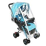Accmor Universal Baby Stroller Rain Cover, Stroller Weather Shield, Waterproof, Water Resistant, Windproof, See Thru, Ventilation, Food Grade Material