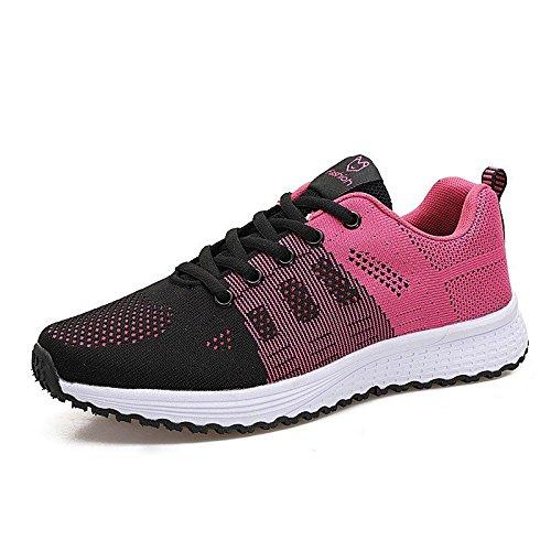 XINGMU Mujer Zapatos Primavera Verano Pisos Sneakers Mujeres Capacitadoras Mujer Zapatos Casual Walking Rosa