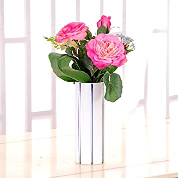 Amazon De Tischdekoration Artifacial Blume Lavendel Rose Simulation