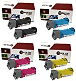 Laser Tek Services Compatible Phaser 6128 Toner Cartridge Replacements for the Xerox 106R01455, 106R01452, 106R01453, 106R01454 (2 Black, 2 Cyan, 2 Magenta, 2 Yellow, 8-Pack)