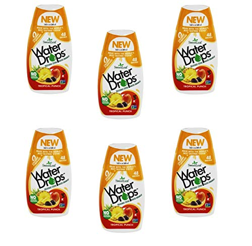 - Wisdom Sweetleaf Water Drops 6 Packs (1.62 fl.oz per Bottle) (Tropical)