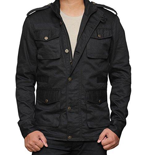 [Jon Bernthal The Punisher Black Daredevil Cotton Jacket For Mens L] (Punisher Outfit)