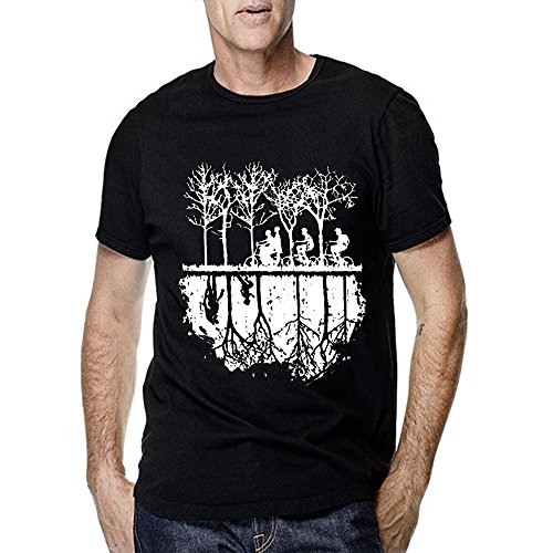 Stranger Things Silhouette Chase for Men T Shirt (X-Large, Black)