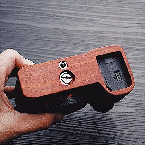 Mahogany Wooden Wood Hand Grip Plate Bracket For Sony a9 A7m3 A7RIII ILCE-7RM3 A7R MKIII (Mahogany Tripod Base)