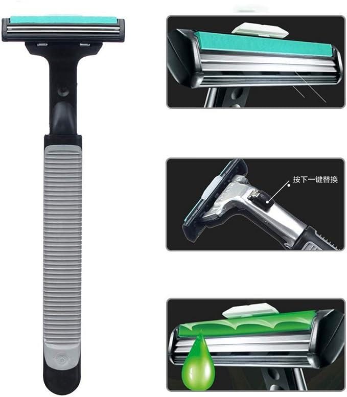 Maquinilla de afeitar manual de los hombres doble 2 cabezal de ...