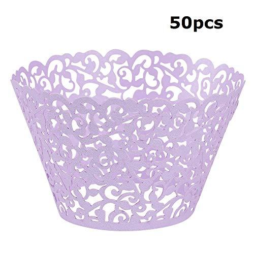 Lucky Monet 50/100Pcs Filigree Vine Cupcake Wrappers Baking
