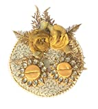 Loops n knots Golden Wedding/ Engagement Ring Platter With 2 Ring Holders