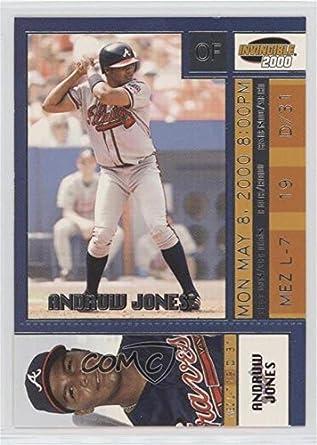 Amazoncom Andruw Jones Baseball Card 2000 Pacific Invincible