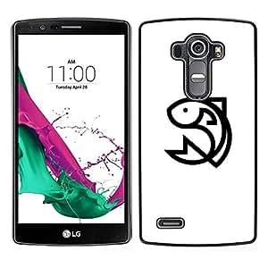 // PHONE CASE GIFT // Duro Estuche protector PC Cáscara Plástico Carcasa Funda Hard Protective Case for LG G4 / happy fish /