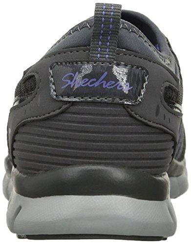 Skechers Damen Gratis Slip-On Sneaker Holzkohle / Lila