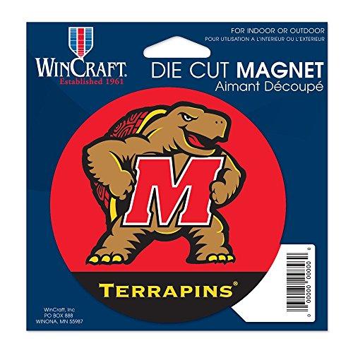 (WinCraft NCAA University of Maryland Die Cut Magnet, 4.5