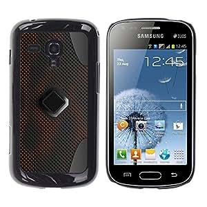 Samsung Galaxy S Duos S7562 , JackGot - Impreso colorido protector duro espalda Funda piel de Shell (Patrón de ciencia ficción Pc Grey Art)