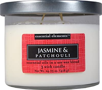 Candle-lite Essential Elements 14-3/4-Ounce 3 Wick Candle with Soy Wax