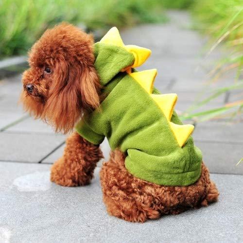 Pet Supplies Cute Dinosaur Shaped Pet Costume. Size: S, Back Length: 23cm, Chest: 35cm ()