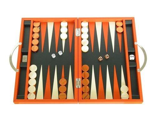 Zaza & Sacci Leather Backgammon Set - Board Game (15