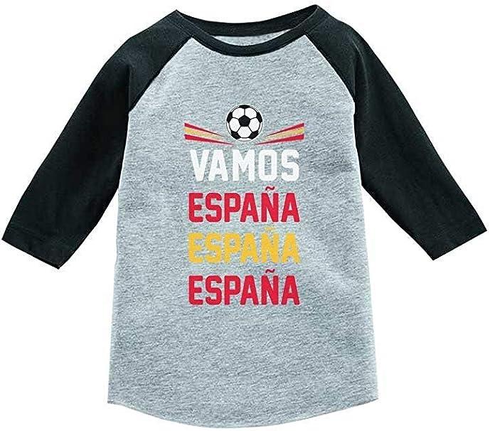 Kelly Kings Vamos España - Camiseta de béisbol de manga 3/4 para niño: Amazon.es: Ropa y accesorios