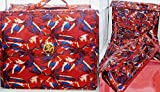 Joy Mangano Deluxe XL Better Beauty Case ~Fuchsia Floral