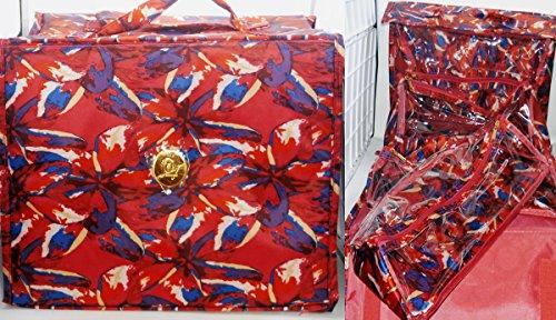 Joy Mangano Deluxe XL Better Beauty Case ~Fuchsia Floral by Joy Mangano
