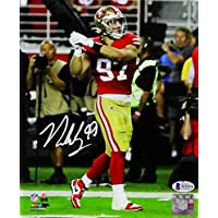 $105 » Nick Bosa Autographed San Francisco 49ers 8x10 Celebration PF Photo- Beckett Auth White