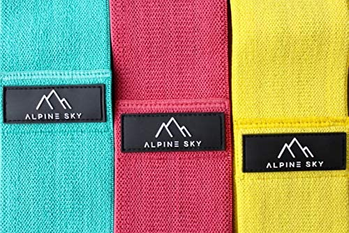 "17/"" Sizes Hip Thigh Non-slip resistance Alpine Sky Premier Booty Bands 13/"" 15/"""