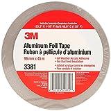 3M 31872 Aluminum Foil Tape 3381, 99 mm x 45 m, 2.7 mil, Silver