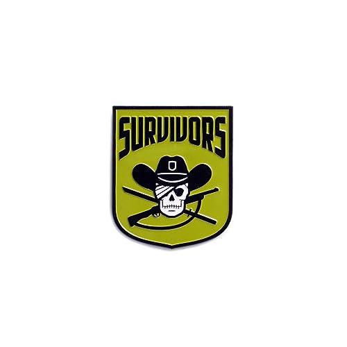 The Walking Dead Faction Badge   Survivors Soft Enamel Metal Plated The Walking  Dead Collectible Lapel