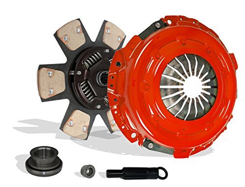 Clutch Kit Works With Ford Mustang Coupe Convertible 2-Door 1994-2004 3.8L 2004 3.9L V6 GAS OHV Naturally Aspirated (6-Puck Clutch Disc Stage 3) ()