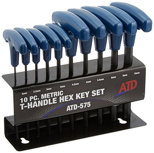 - ATD Tools (575 10-Piece Metric T-Handle Hex Key Set