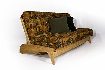 dillon natural queen wall hugger futon frame by strata furniture amazon    dillon natural queen wall hugger futon frame by strata      rh   amazon