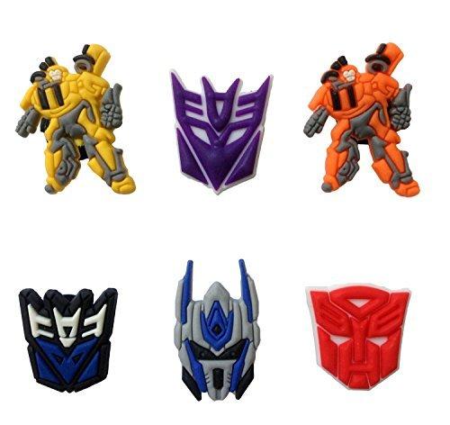 [Transformers Shoe Charms 6 Pcs Set #1] (Character Photo Charms)