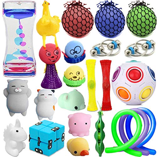 24 Pack Wankko Sensory Toys Set Relieves Stress & Anxiety Fidget Toy For Children Adult - Special Toys Assortment for Birthday Party Favors, Classroom Rewards Prizes, Carnival, Piñata Goodie Bag Fille ()