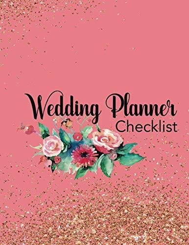 Wedding Planner Checklist: Wedding Planner Organizer Checklist Journal Notebook for Newly Engaged Couple Pink