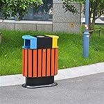 AKONTR-Basura-y-Reciclaje-Papeleras-Basura-de-Madera-con-Barril-Interior-y-cenicero-contenedores-de-clasificacion-de-3-Colores-de-Reciclaje-para-Uso-Exterior-o-Comercial-Cubos-de-Basura