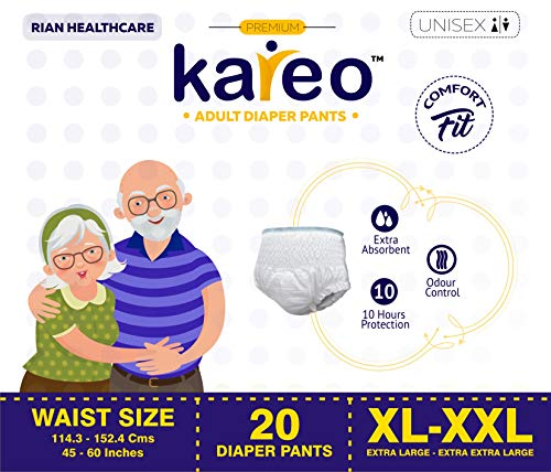 Kareo Pant Style Adult Diapers XL-XXL Size – Pack of 20 Diapers