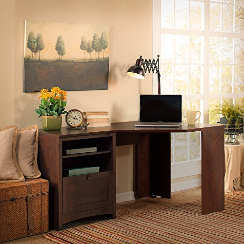 Buena Vista 60W Corner Desk in Madison Cherry by Bush Furniture