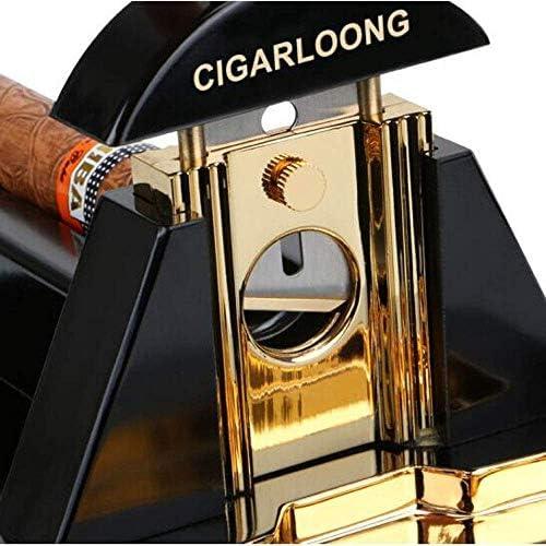 Gulakey シガーカッター、デスクトップ喫煙者のためのA鋭い刃、直径22ミリメートルの葉巻アップに適し、ギフトボックス包装、パーフェクトホリデーギフト、ニースのパッキング(カラー:ゴールド、サイズ:* 15センチメートル24)