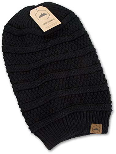 ac0e10b2668 Slouchy Cable Knit Beanie By Tough Headwear - Chunky