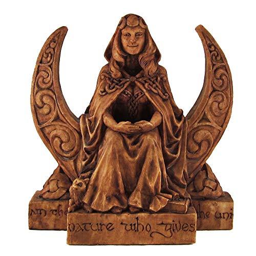 Dryad Design Moon Goddess Statue Wood Finish