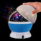Constellation Night Light, 360 Degree Rotating Star projector lamps for Kids boys Romantic Cosmos room Sky Moon Baby Nursery Light by Tysonir (Blue)