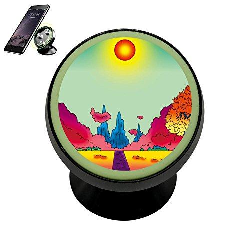 Universal Magnetic Phone Car Mount Holder Metal Luminous 360 Degree Rotation Car Dashboard, Car Phone Mount Luminous Magnetic Car Phone Holder Colourful Garden