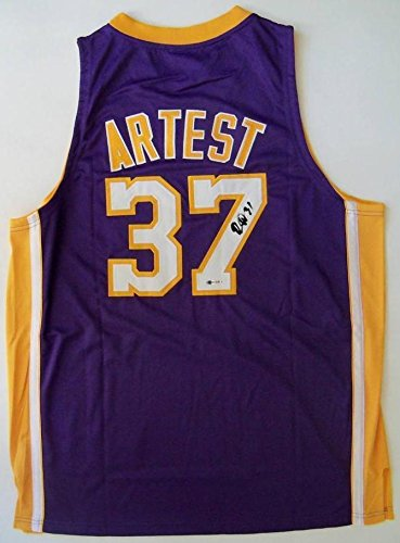 0fc81666bb24 Amazon.com  Ron Artest Metta World Peace Signed Los Angeles Lakers 2009  Champions Jersey - Upper Deck Certified - Autographed NBA Jerseys  Sports  ...