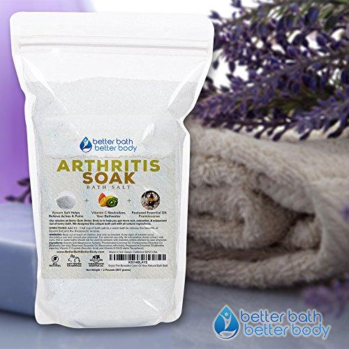 Arthritis Bath Salt 32oz (2-Lbs) - Epsom Salt Bath Soak With Frankincense Essential Oil & Vitamin C - Get Arthritis Relief With This Natural Bath Soak - All Natural No Perfumes No Dyes by Better Bath Better Body (Image #8)