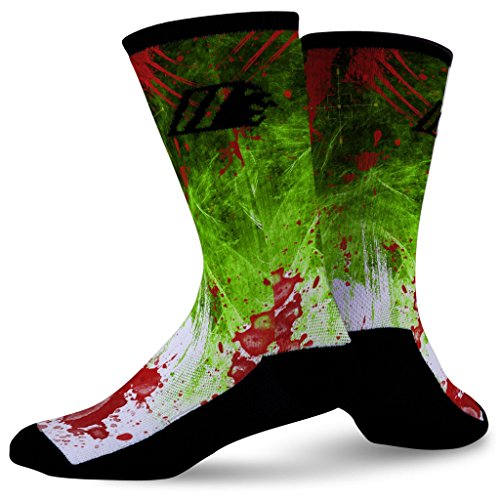 Sock Motto Funny Crazy Colorful Custom Basketball Crew Athletic Socks ZOMBIE DESTROYER ()