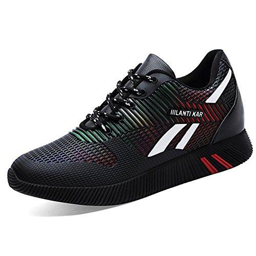 Zapatos de Mujer Spring Fall Mesh Sneakers, Zapatos Ocasionales Respirables de Las Señoras, Zapatillas Deportivas con Cordones de la Aptitud Segundo